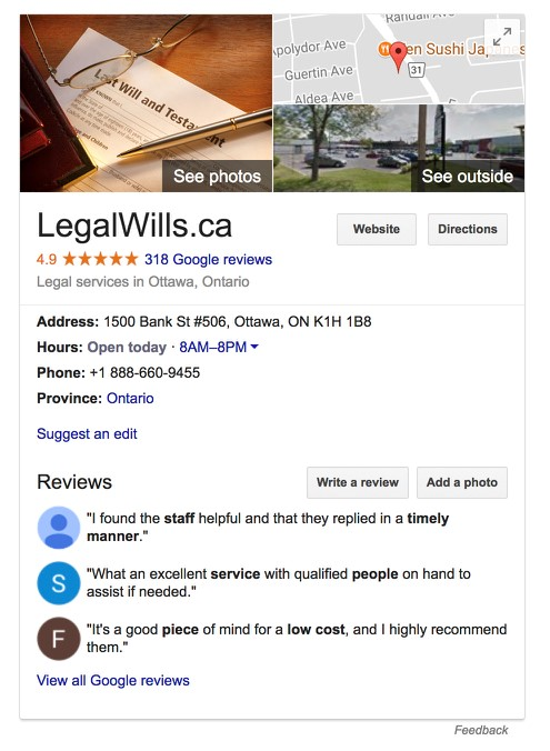 LegalWills.ca Reviews